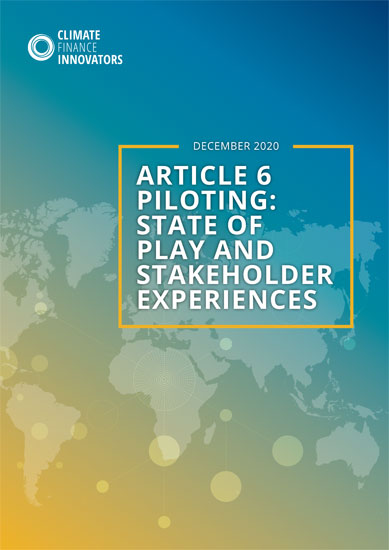 Article 6 piloting: State of play and stakeholder experiences