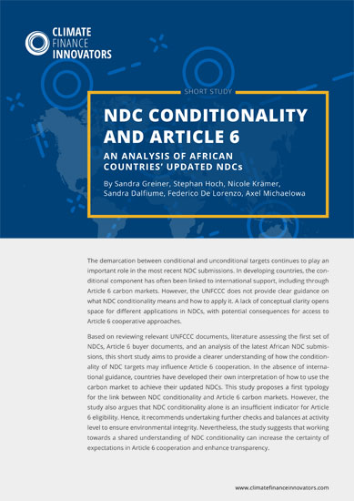 NDC conditionality and Article 6 – An analysis of African countries' updated NDCs